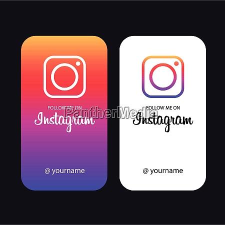 folgen sie mir auf instagram creative