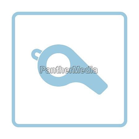 american football pfeifen ikone blaue rahmen