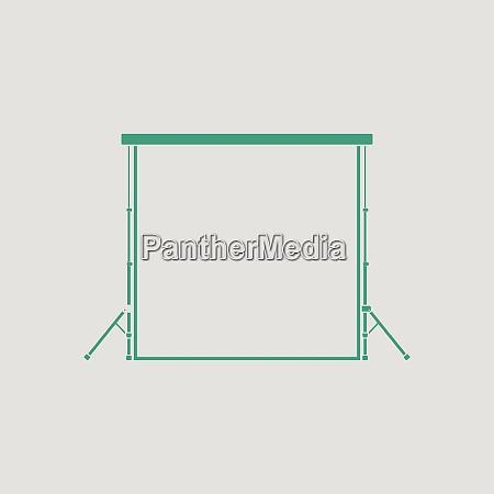 icon of studio photo background gray