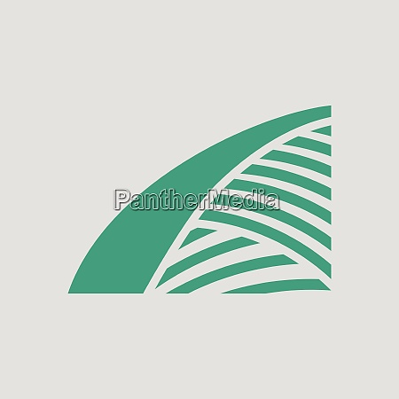 agriculture field icon gray background with