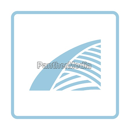agriculture field icon blue frame design