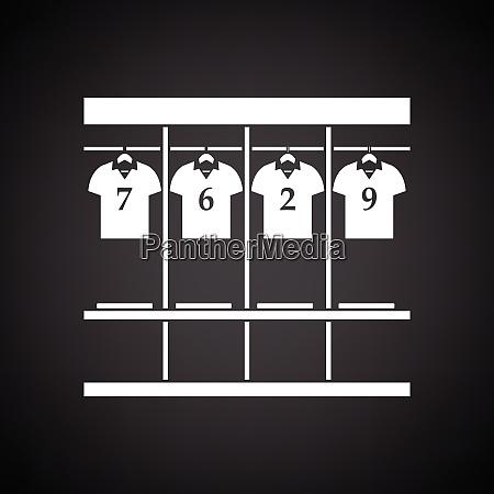 locker room icon black background with