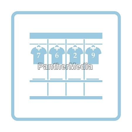 locker room symbol blaue rahmen design