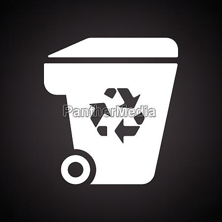 garbage, container, recycling, zeichen, symbol., schwarzer - 26246276