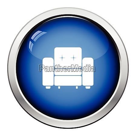 home armchair icon glossy button design