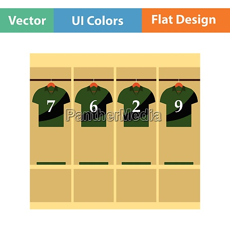 locker room icon flat design vector