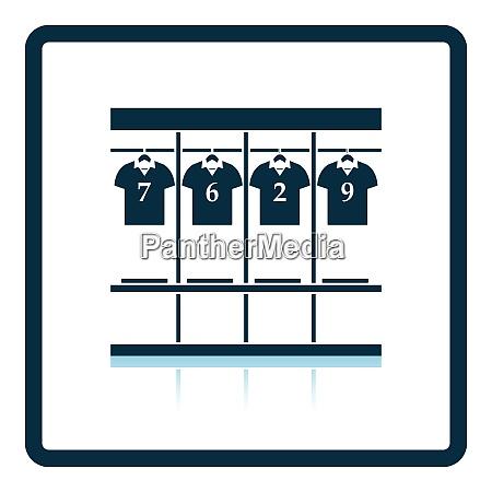 locker room symbol schattenreflexionsdesign vektor illustration