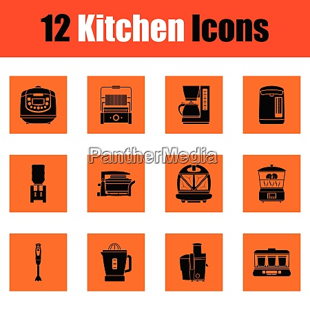 kitchen icon set kitchen icon set