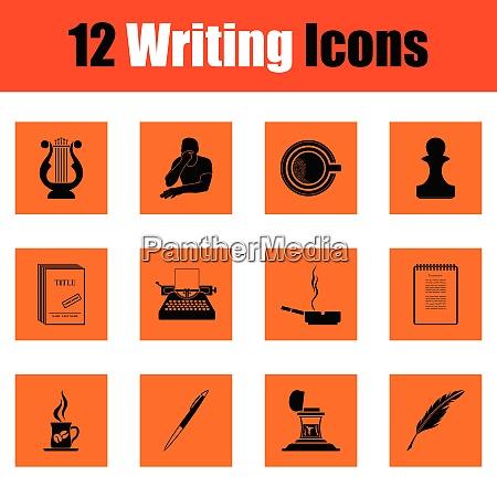 set of writing icons set of