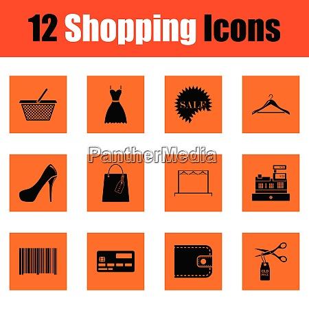 shopping icon set shopping icon set