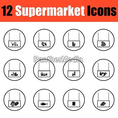 supermarkt symbol set supermarkt symbol set