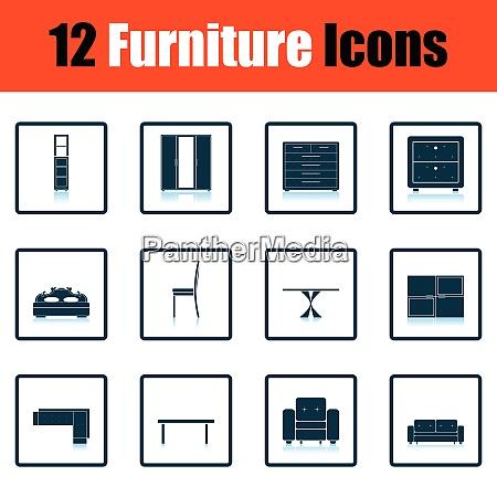 home furniture icon set home furniture