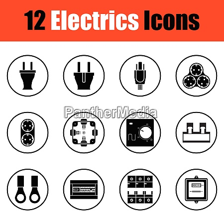 elektrik symbol set elektrik symbol set