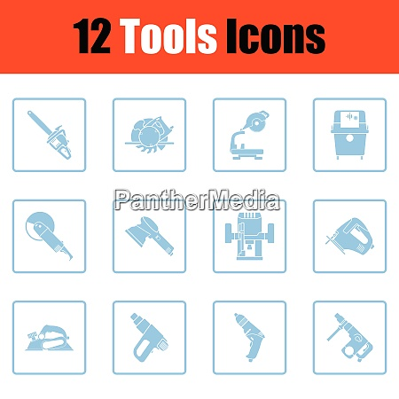 set of tools icons set of
