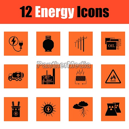 energy icon set energy icon set