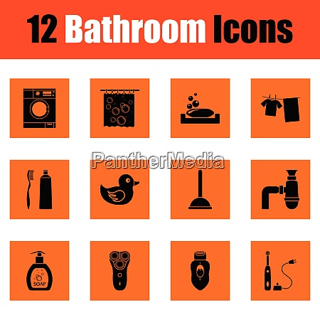 bathroom icon set bathroom icon set