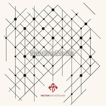 abstrakte moderne geometrische muster linien schwarz