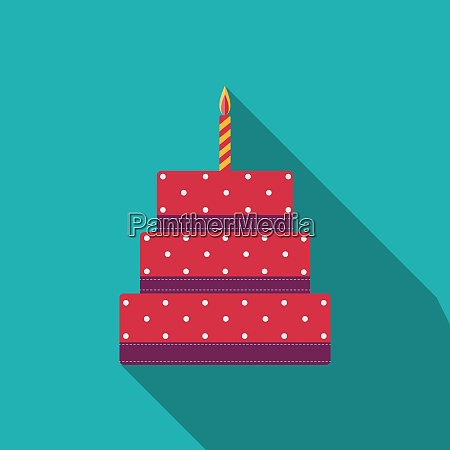 birthday cake flat icon for your