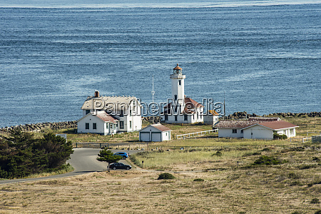 the point wilson lighthouse protecting the