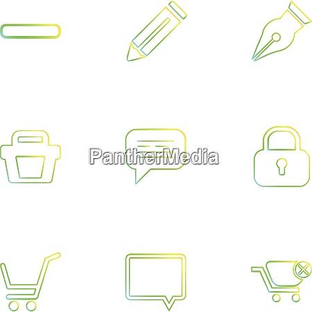 lebensmittel einkaufen gesundheit gesund symbol vektor