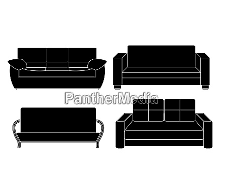 sofa icon set vector illustration eps10