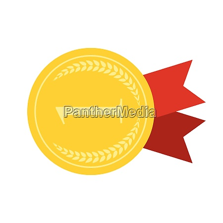 art flat medal icon for web