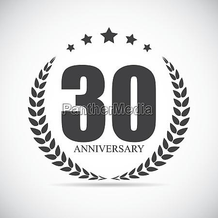 vorlage logo 30 jahre jahrestag vektor