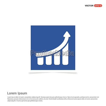business graph icon blauer fotorahmen