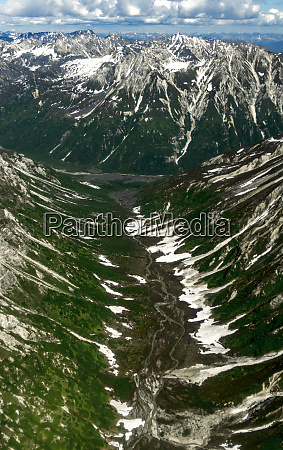 aerial view of alaska range over