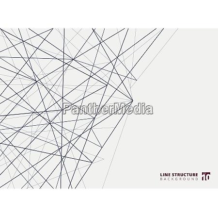 abstrakte UEberlappungslinienstruktur auf weissem hintergrund vektor