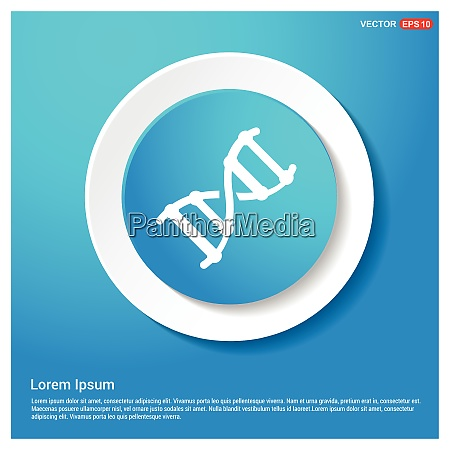 dna symbol abstract web sticker button