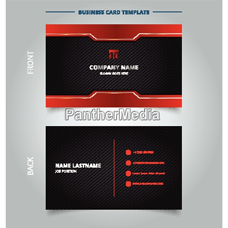 namecard template technology red and black