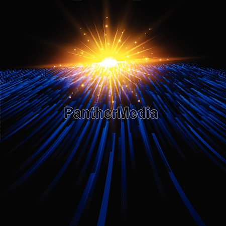 abstract technology blue light laser lines