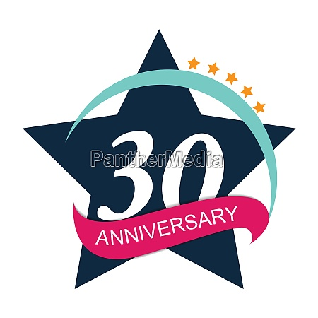 vorlage logo 30 jahrestag vektor illustration