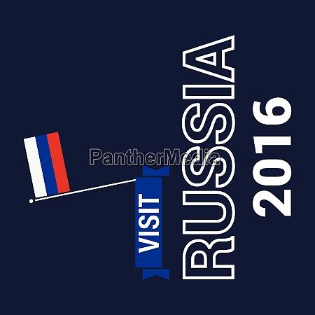 russland unabhaengigkeit tag design vektor