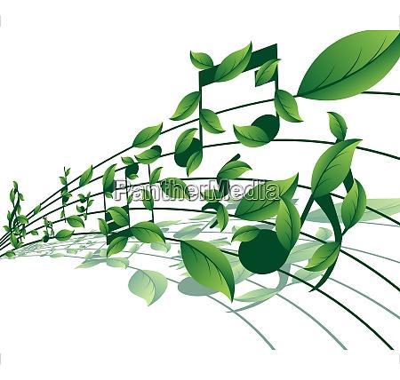 vektor musiknoten hintergrund fuer design nutzung