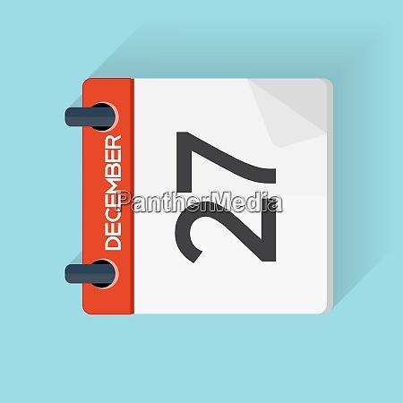 27 dezember kalender flat daily icon