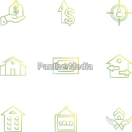 immobilien haus immobilien geld dollar navigation