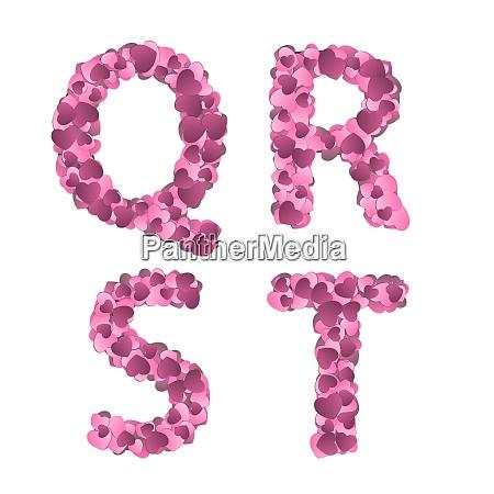 valentine s day alphabet of hearts