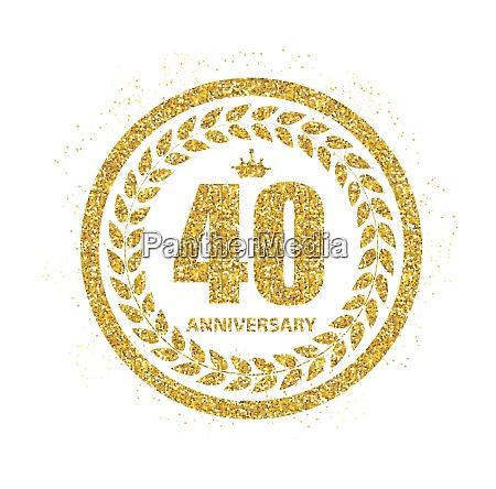 vorlage 40 jahre jubilaeum vektor illustration
