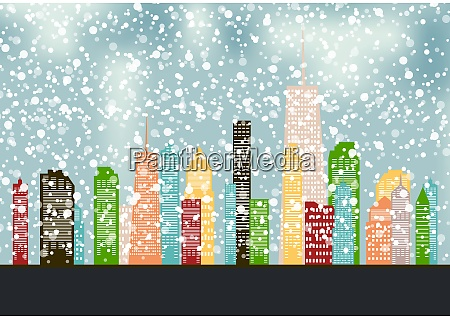 abstract christmas and new year with