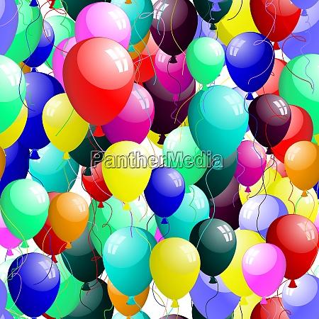 schoene nahtlose luftballons muster vector illustration