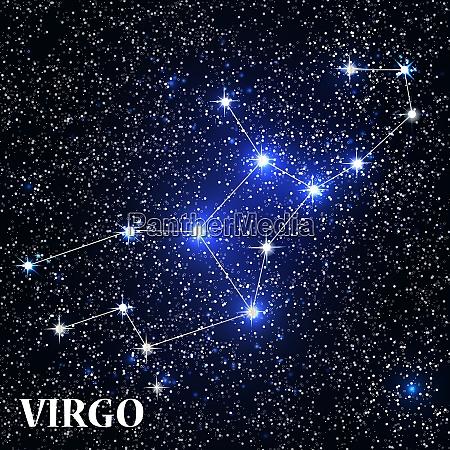 symbol virgo zodiac sign vector illustration