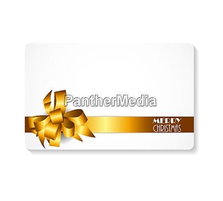 geschenk karte mit gold schleife und