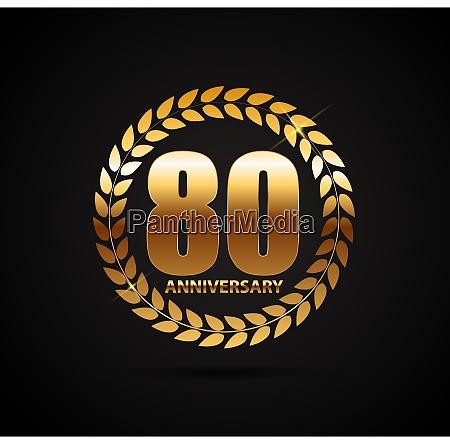 schablone logo 80 jahre jubilaeum vector