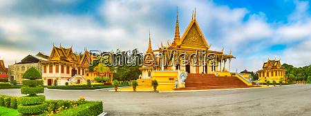 koenig palast phnom penh kambodscha panorama