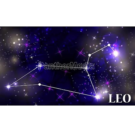 symbol leo zodiac sign vector illustration