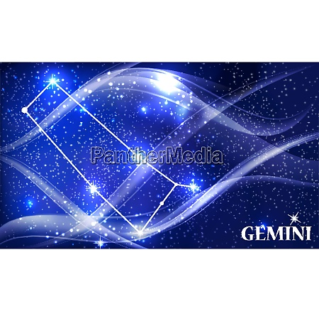 symbol gemini zodiac sign vector illustration