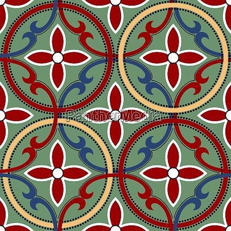 geometric chinese seamless vector pattern