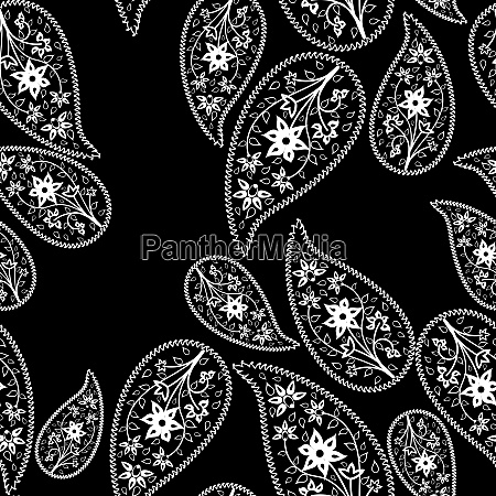 oriental cucumbers seamless vector pattern
